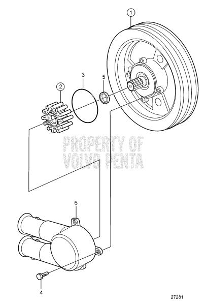 Seawater Pump Parts 4.3GL-A, 4.3GL-B, 4.3GL-C, 4.3GL-D