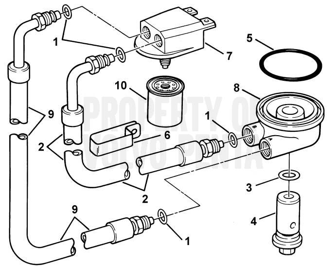 Remote Oil Filter 4.3GLPHUB, 4.3GSPHUB, 4.3GSPHUS, 4