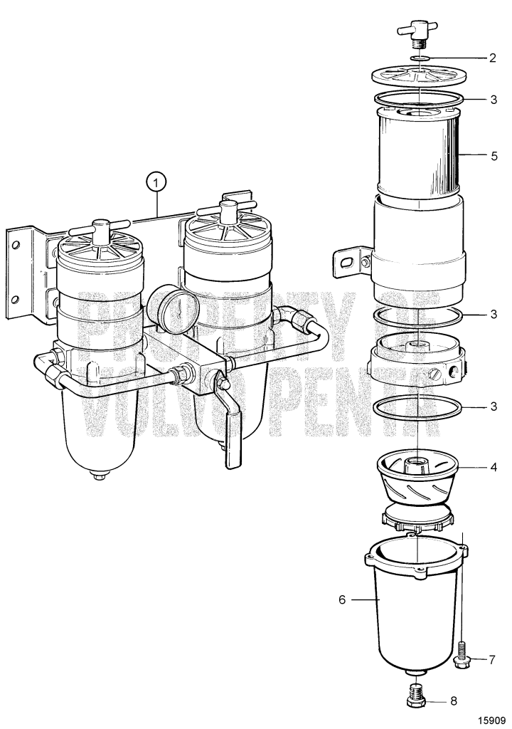 Fuel Cleaner / Water Separator, Twin. Classifiable Fuel