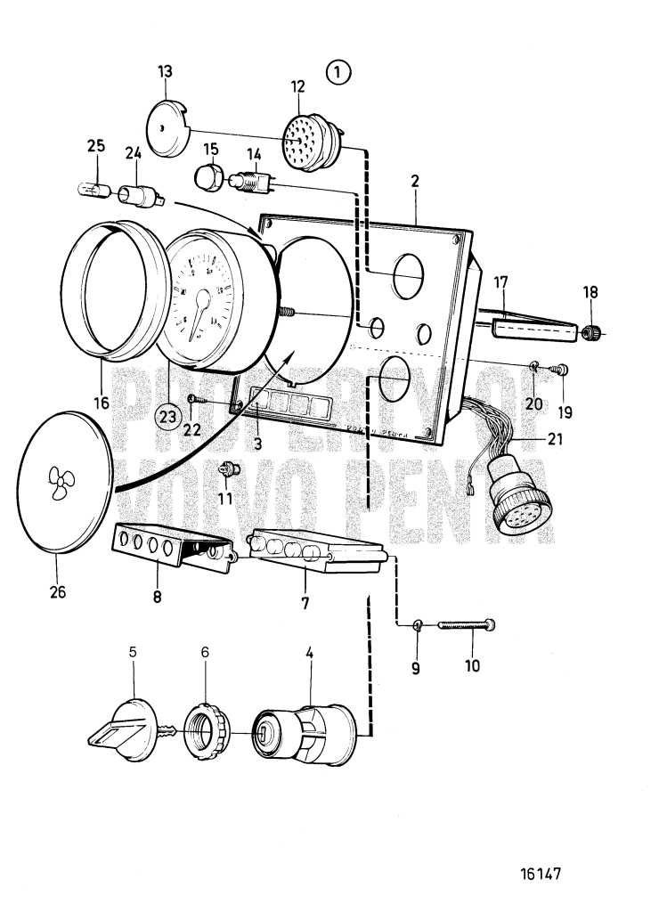 Instrument Panel Standard, With Key Switch D1-13 A, D1-20