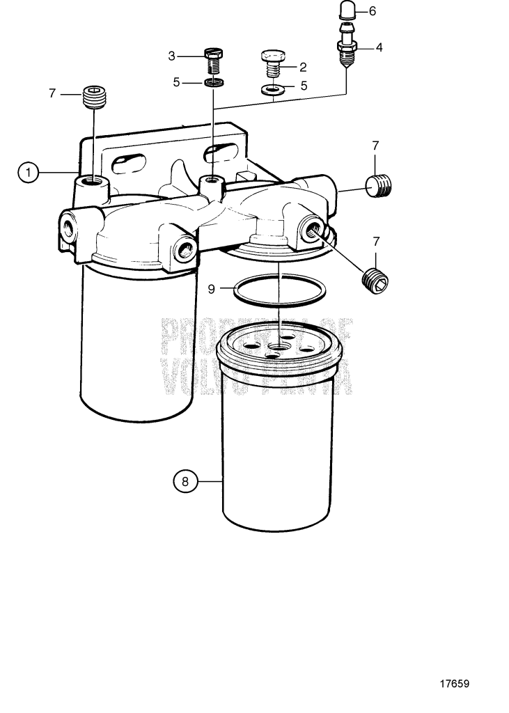Fuel Filter, Components: 8194541 TAMD165A-A, TAMD165C-A
