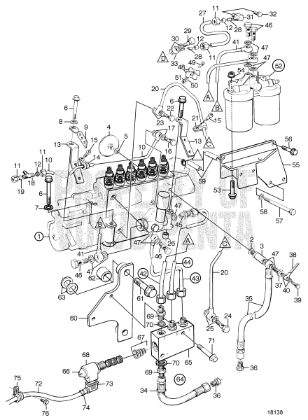 Fuel Injection Pump, Fuel Filter And Shut-Off Valve