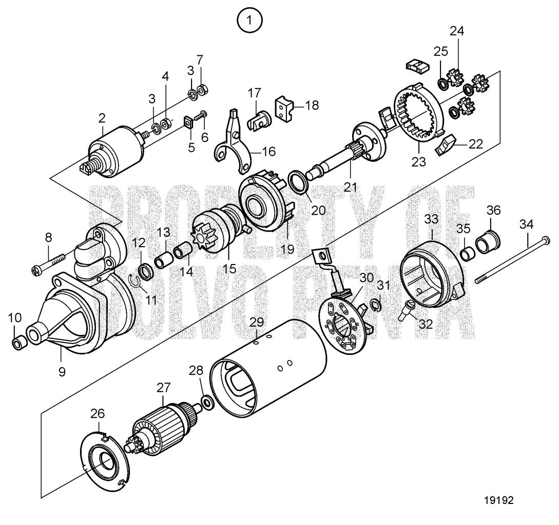 Starter Motor, Components Sn-10787691: 12v 3.1kw D5A-T