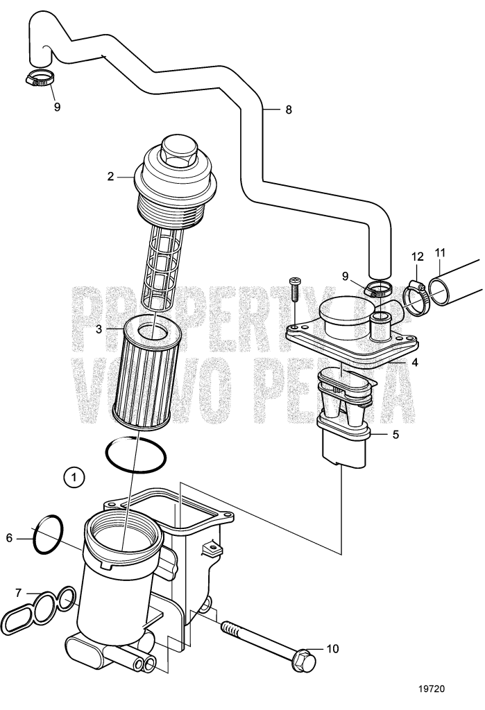 Oil Filter D3-110I-A, D3-130A-A, D3-130I-A, D3-160A-A, D3
