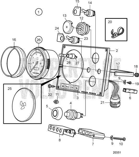 Instrument Panel Standard, With Start Button D2-75 A