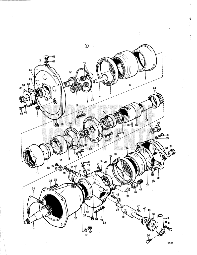 Reduction Reverse Gear Volvo Penta Utv 3, 49:1: 820201