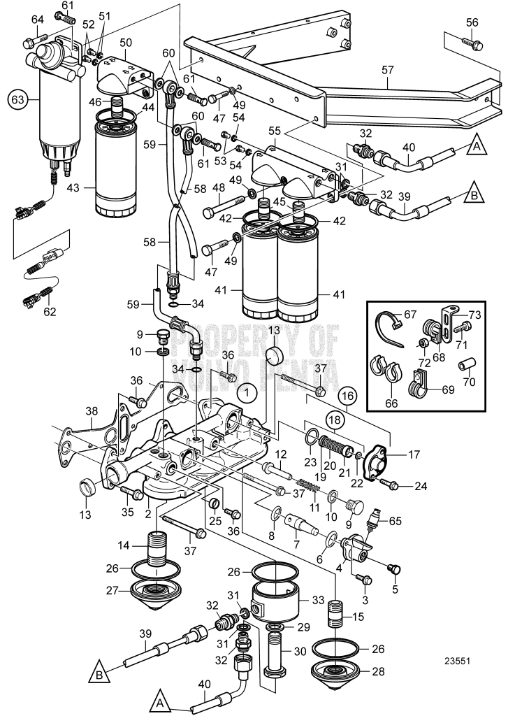 Oil Filter Housing And Oil Filter, Alternative Mounting