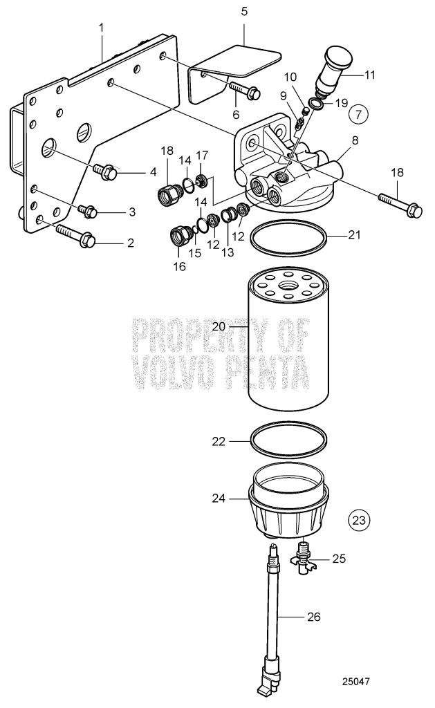 Fuel Filter D9A2A D9-425, D9A2A D9-500, D9A2A D9-575