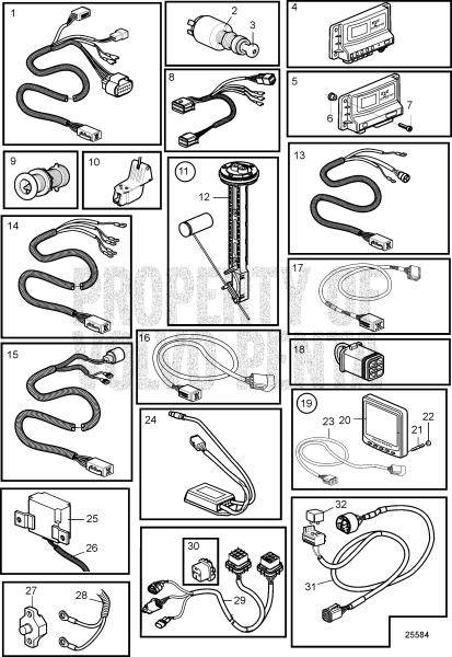Control Unit And Cables, Evc-C3 D3-110I-D, D3-110I-E, D3