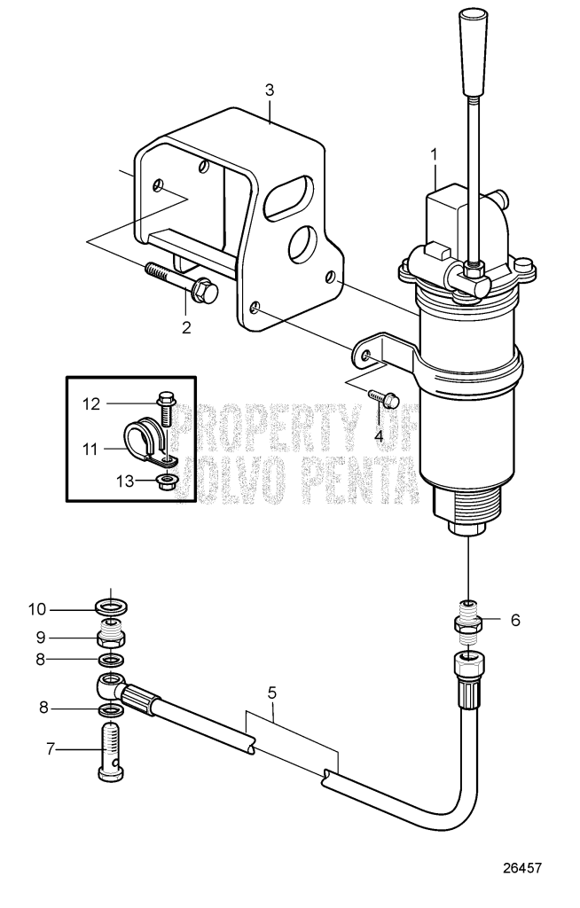 Oil Drain Pump And Installation Parts, Engine Mounted
