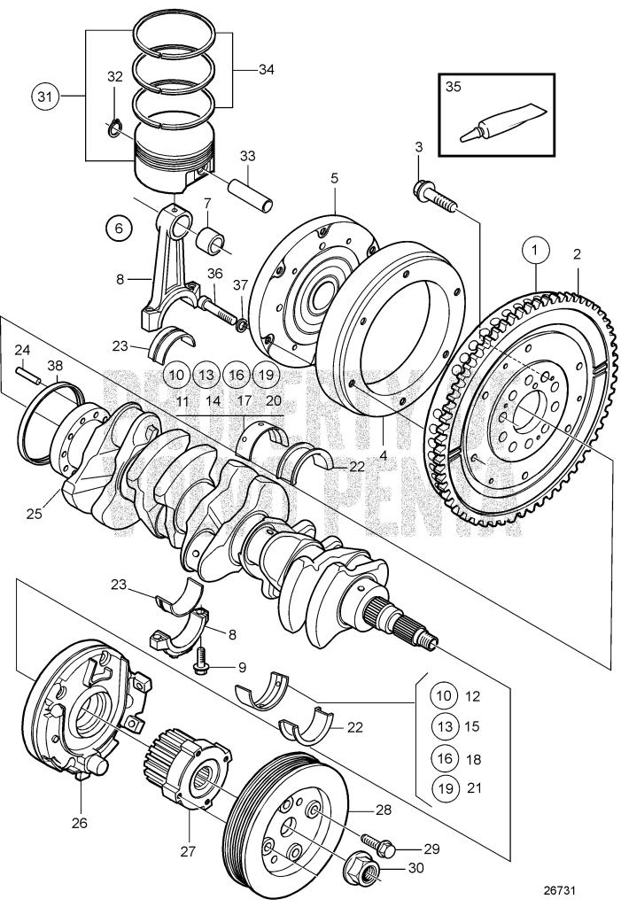 Crank Mechanism Sn2003016726-D3-110I-C, D3-130I-C, D3-160I