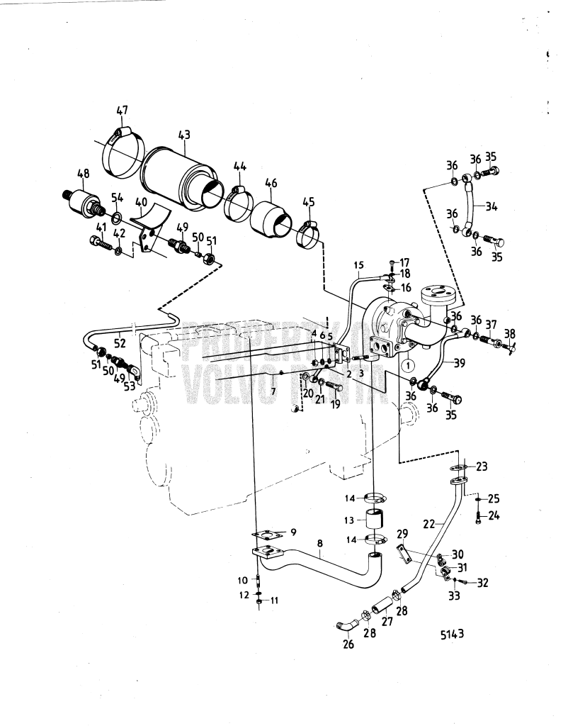 Turbocharger And Air Filter With Installation Components