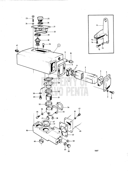 Heat Exchanger And Thermostat With Installation Components