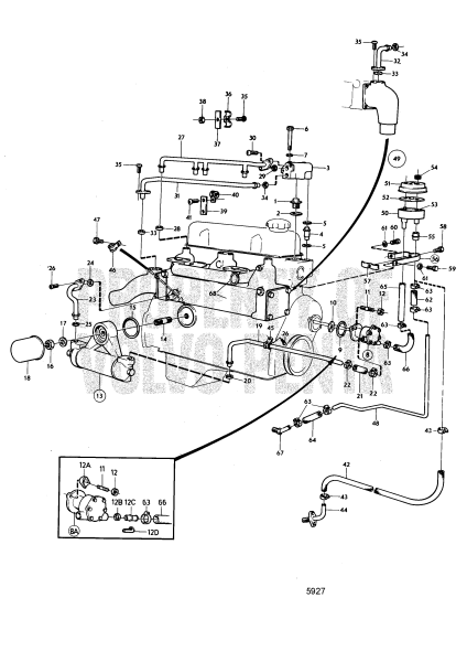 Cooling System Induction And Exhaust Manifold, Later Prod