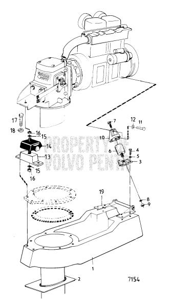 Engine Suspension, Sail Boat Drive Unit: Md11, Md11c/110s