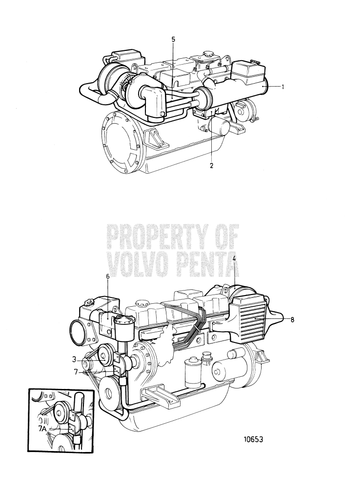 Cooling System, Induction- And Exhaust Manifold: Pr No