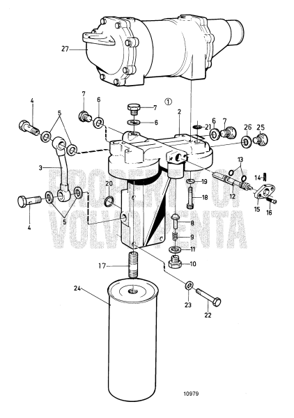 Oil Filter Housing With Shift Valve Classifiable TMD100C