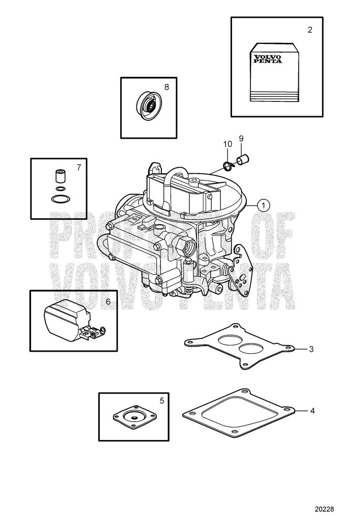Carburetor Service Kits 5.0GL-C, 5.0GL-D, 5.0GL-E