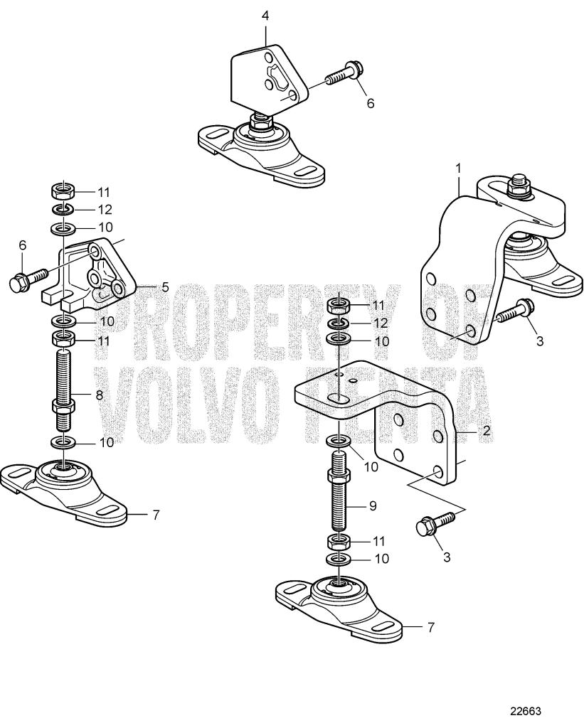 Engine Suspension For Reverse Gear D1-30 A, D1-30 B, D1