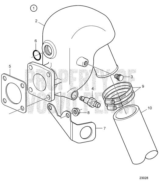 Exhaust Riser D1-13 A, D1-13 B, D1-20 A, D1-20 B, D1-30 A