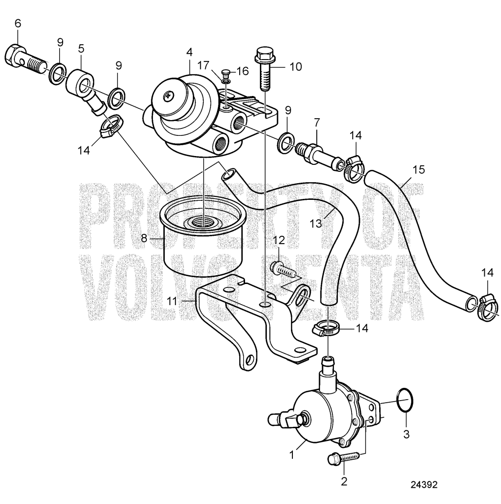 Fuel Filter And Feed Pump D1-30 A, D1-30 B, D2-40 A, D2-40