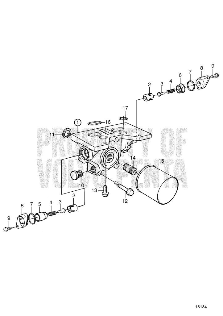 Oil Filter Housing AD41L-A, AD41P-A, D41L-A, TAMD41H-A