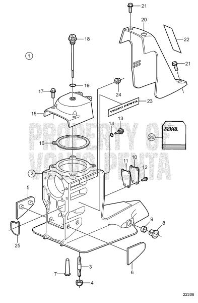 Upper Gearhousing SX-M1 1.43, SX-M1 1.51, SX-M1 1.60, SX