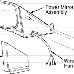 Volvo 940 Engine Diagram 2001 Nissan Altima 850 Power Mirrors Service Manual Volvotips 4 Removing Mirror Assembly Similar Courtesy Of Cars North America