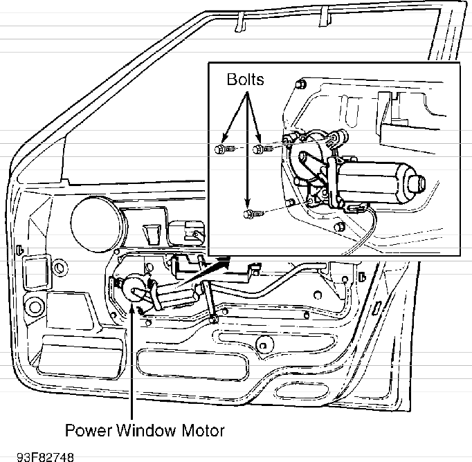 Volvo 850 power windows service & repair manual