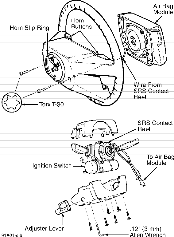 volvo 850 steering column switches service manual