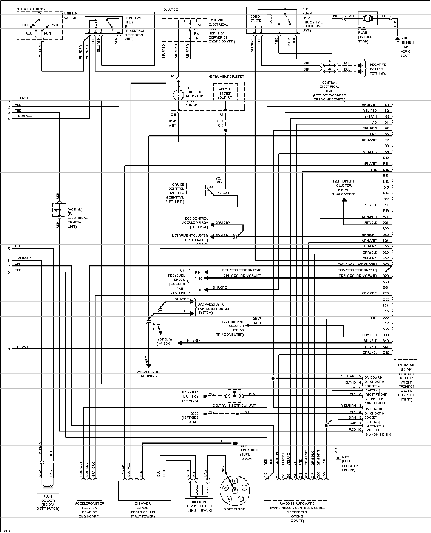 Volvo 850 turbo, T-5 and T-5R system wiring diagrams