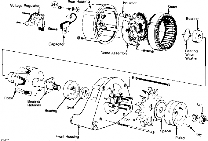 Volvo 960 alternator & regulator repair manual