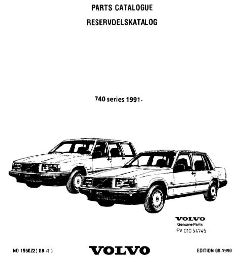 Volvo 740 parts catalog
