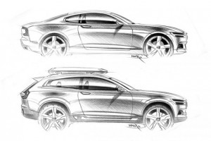 Leaked photos of the new Volvo Concept XC Coupe