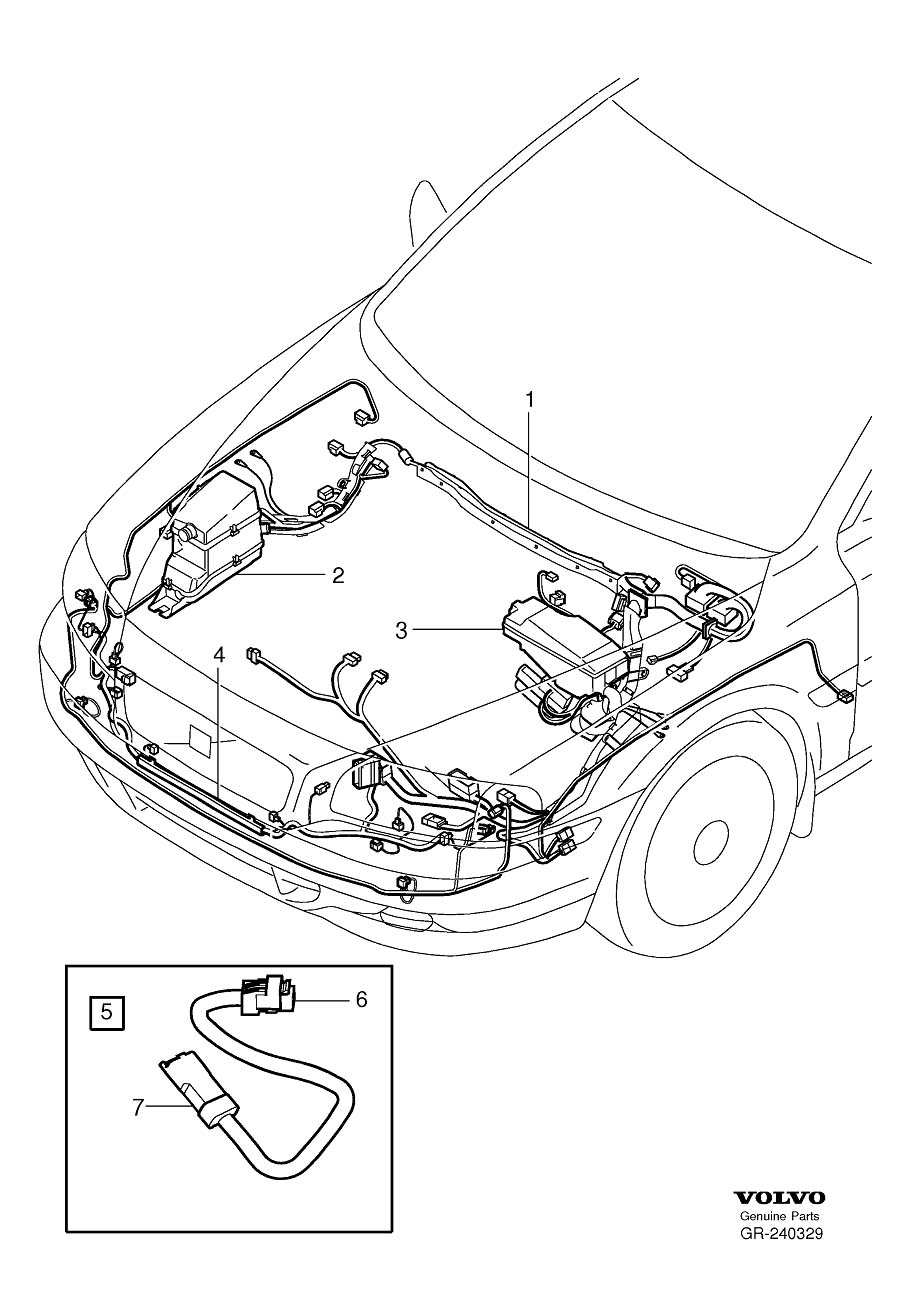 1986 Volvo Wiring Harness. Cable Harness Engine