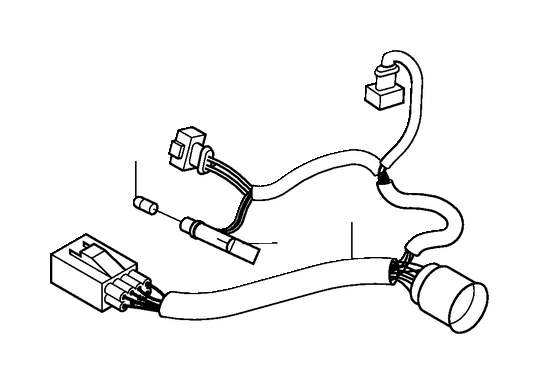 Volvo S60 Headlight Wiring Harness (Left). CH 173000. CH