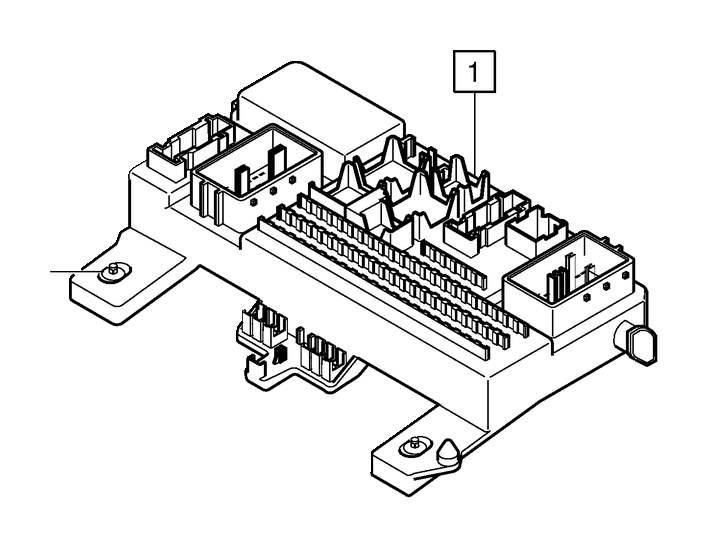 2007 Volvo V50 Lock Pin. Central Electronic Module (CEM