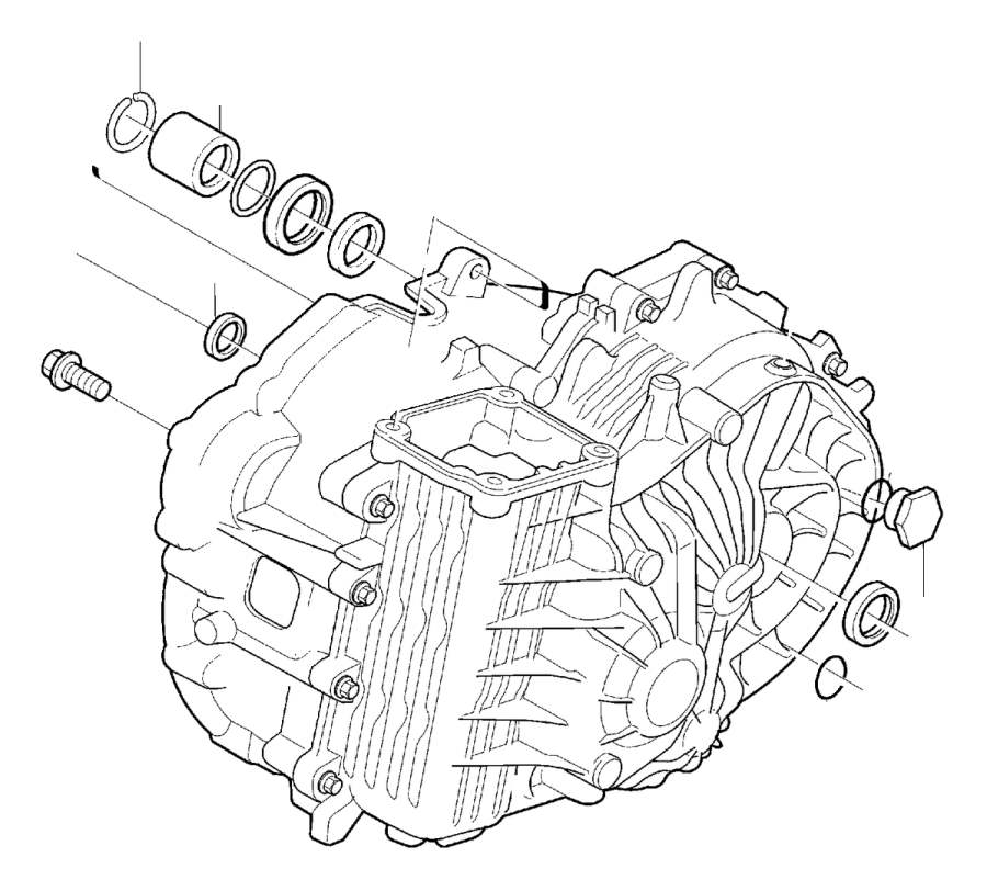 2008 Volvo S40 Sleeve. Manual, Gearbox, Transmission