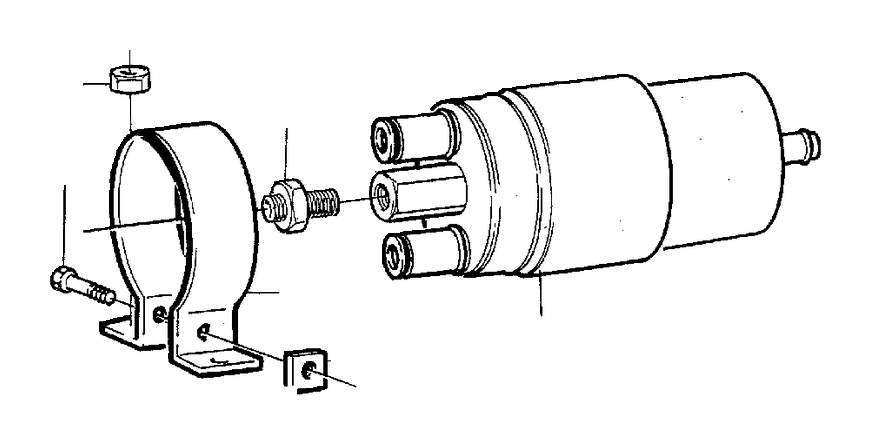 Volvo 240 Check valve. Genuine Classic Part. Pump, Fuel