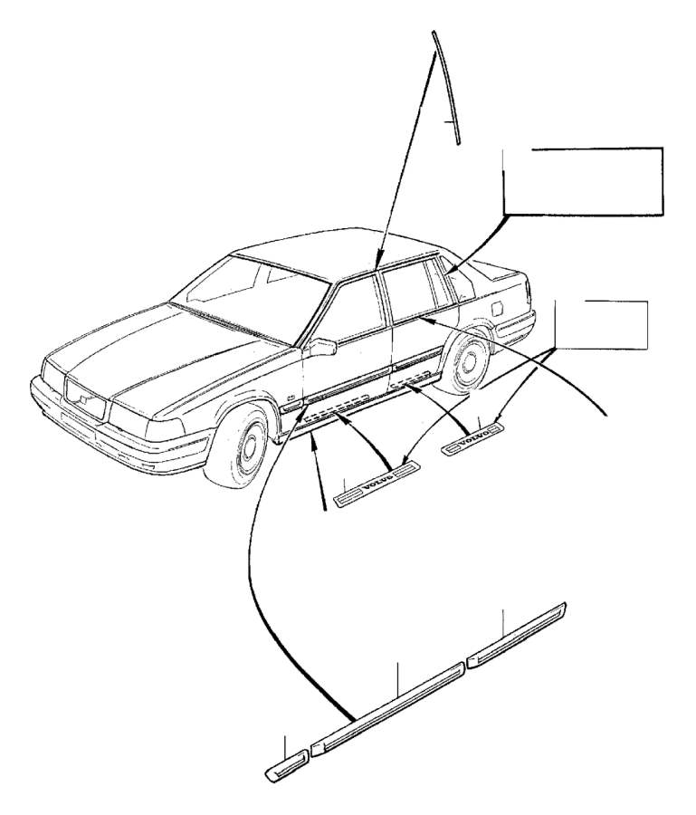 2013 Volvo XC60 Door Sill Plate (Right, Interior code