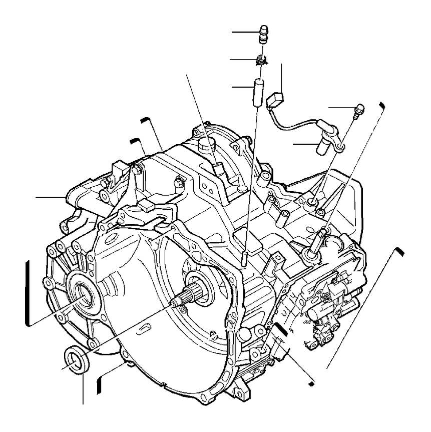 2004 Volvo S40 Engine Speed Sensor. Gearbox, Automatic