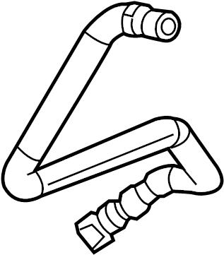 2014 Volvo XC60 Bleeder hose. Connections, Radiator