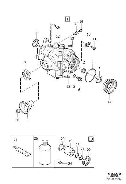 Volvo V70 Service kit. Manual, Gearbox, Transmission