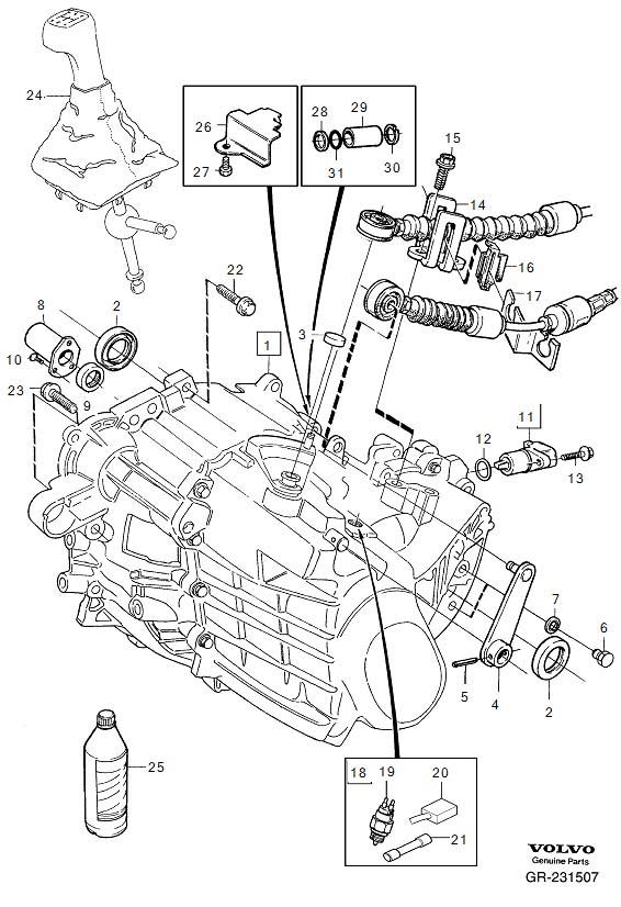 1997 Volvo 850 Vehicle speed sensor. Speedometer