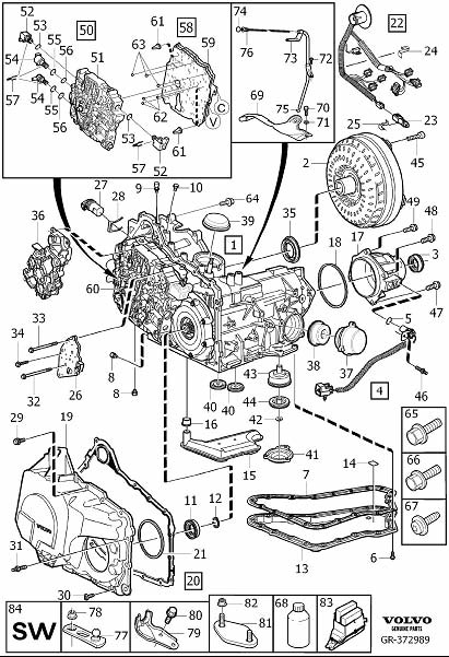 Volvo XC90 Engine Speed Sensor. Gearbox, Automatic