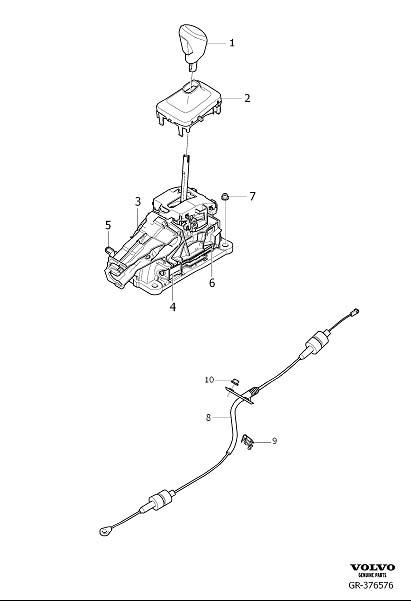 2015 Volvo XC60 Gear shift lever knob. Passenger