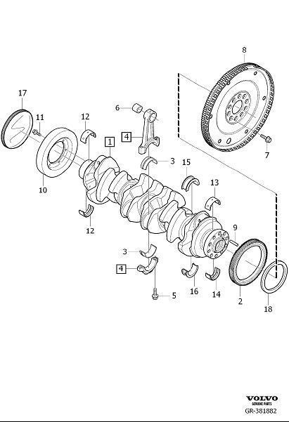 2012 Volvo S60 Engine Harmonic Balancer. Oscillation