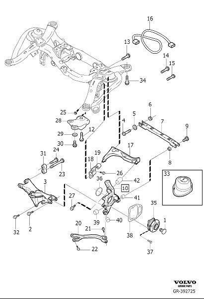 2005 Volvo XC90 Suspension Arm. Suspension Panhard Rod