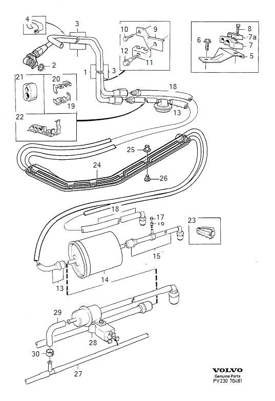 Volvo S70 Return pipe. Genuine Classic Part. Engine, Lines