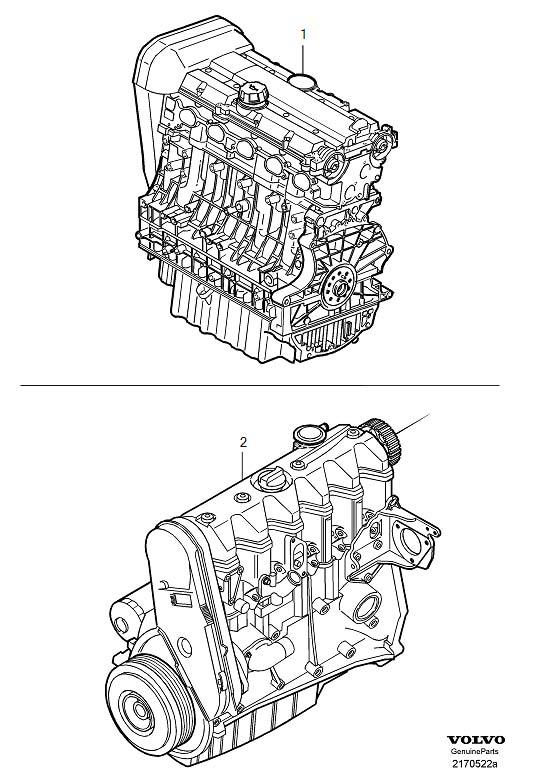 Volvo C70 Engine, exch. Genuine Classic Part. Engines